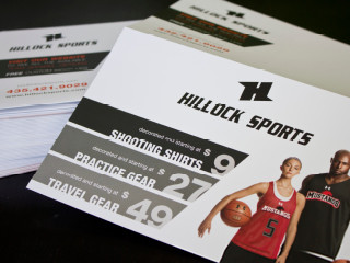 Hillock Sports, Print Collateral