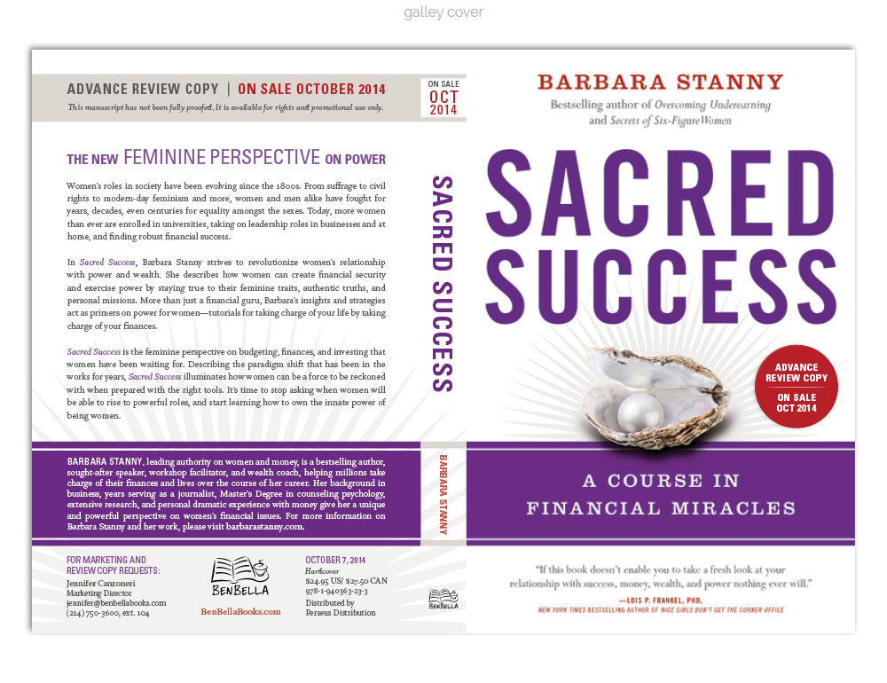 Sacred Success Galley Cover